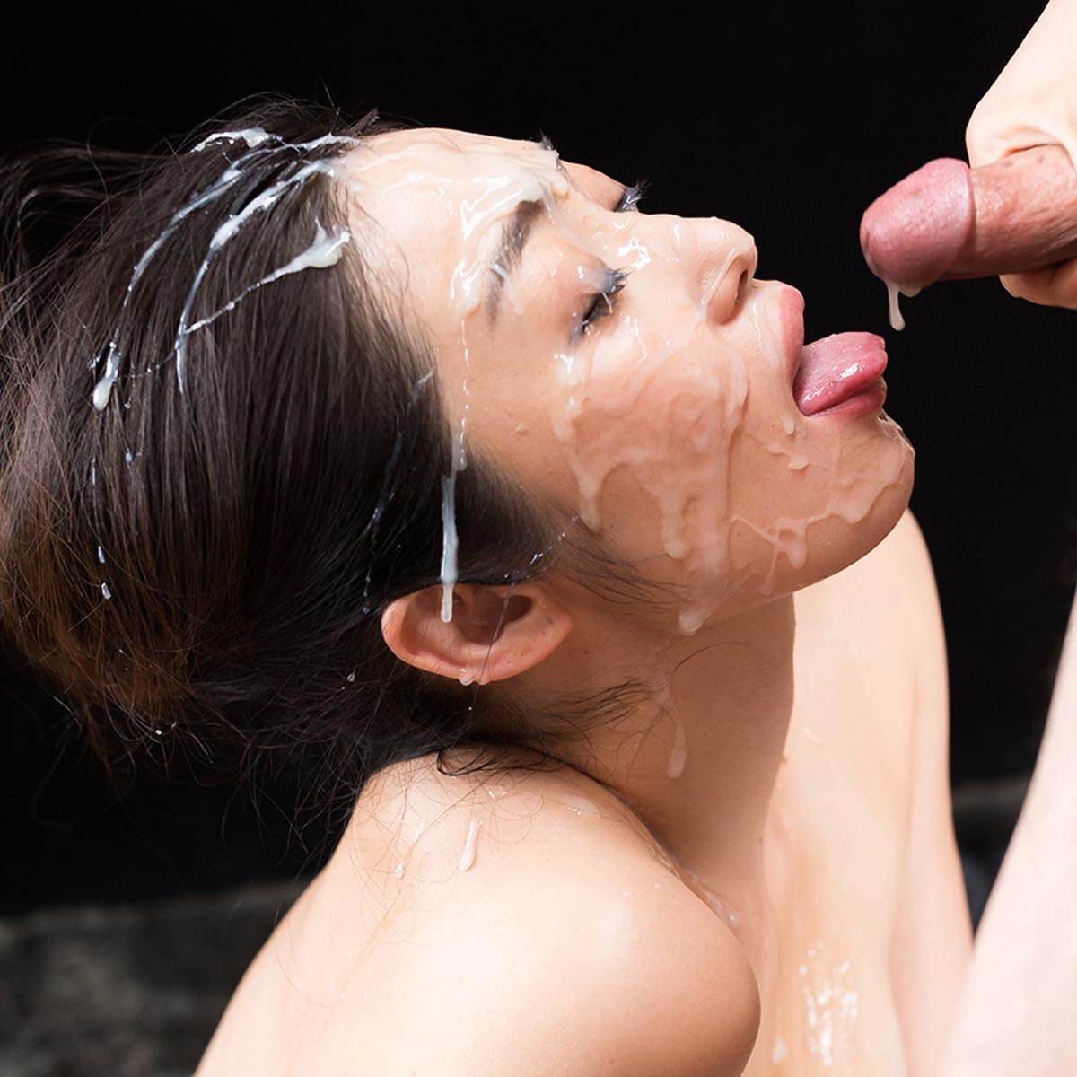 SpermMania, Cum Fetish, Bukkake and Facials. Uncensored Japanese porn videos featuring nude girls sucking and fucking many cocks.