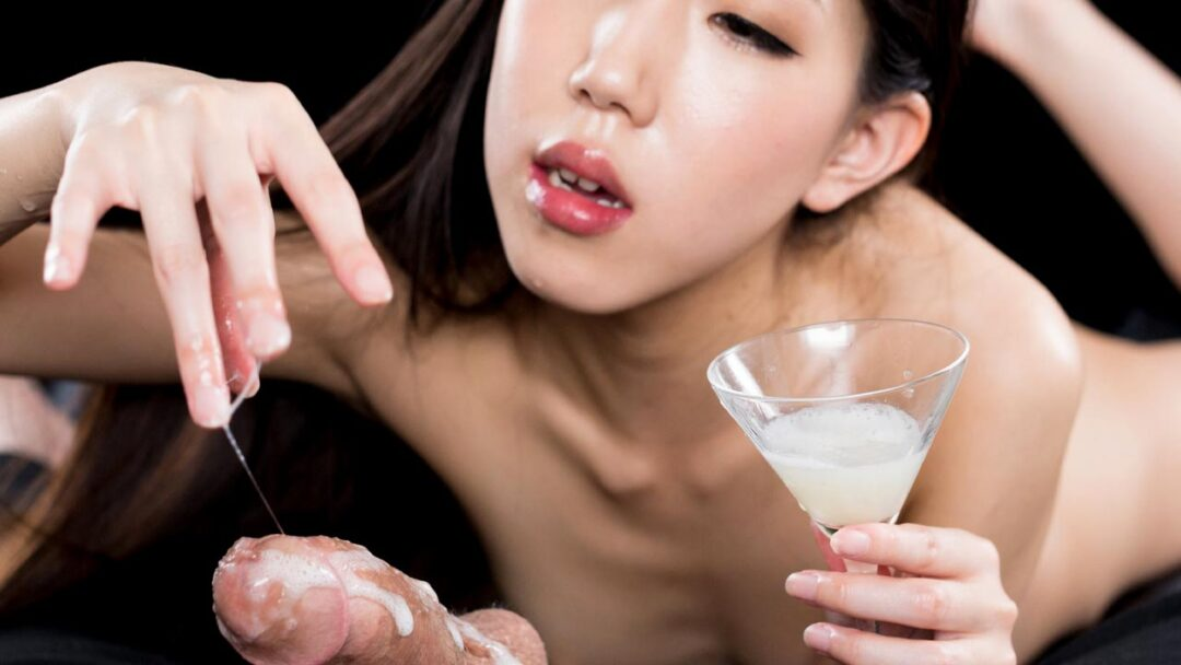 Rio Kamimoto Collects Lots of Cum for An Extra Sloppy Handjob. An uncensored Cum Fetish video from SpermMania.