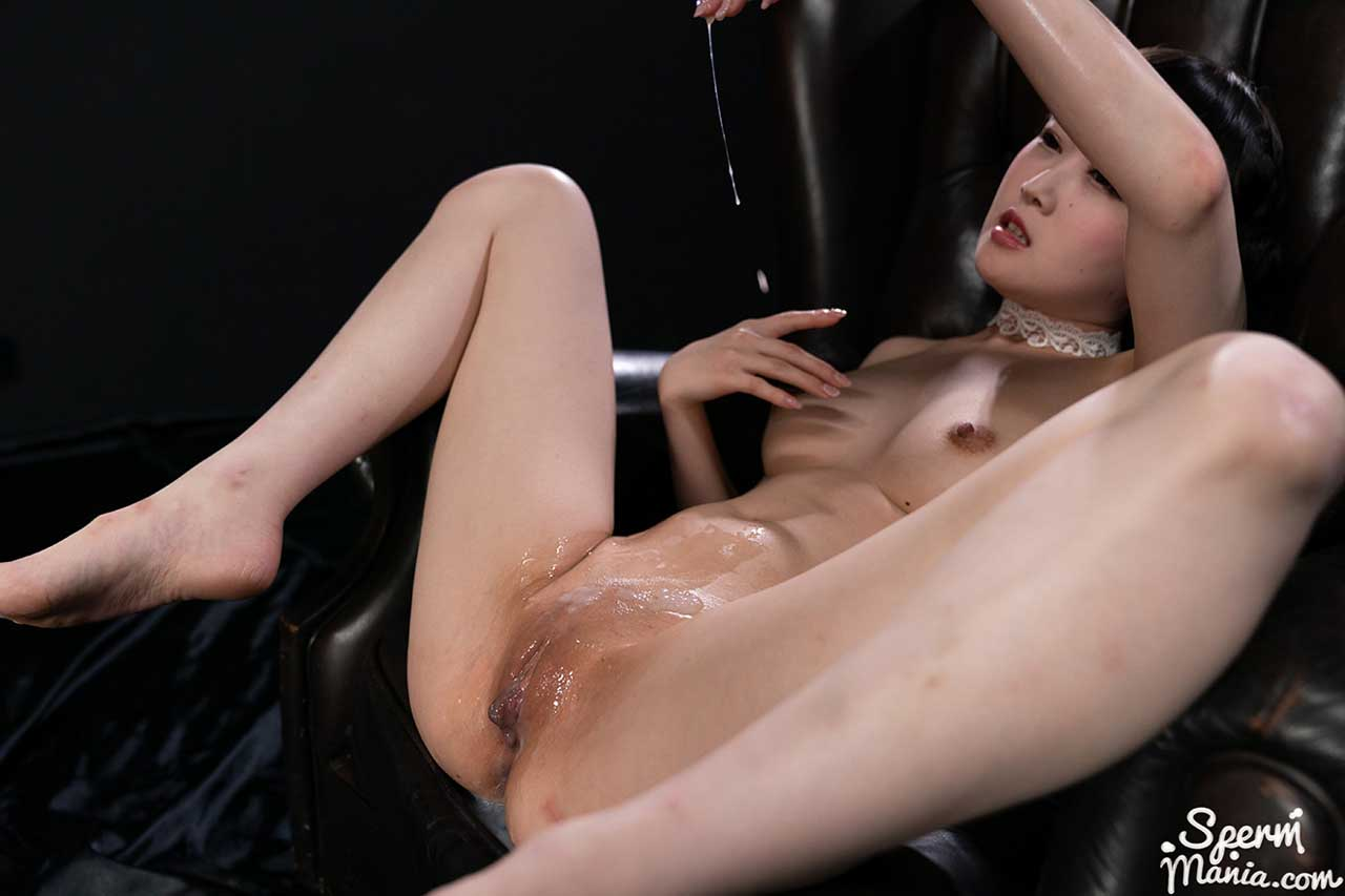 Ria Kurumi Gets Her Pussy Filled With Cum. An uncensored massive Creampie video from SpermMania. A nude Japanese girl fucks 10 boys and masturbates her sperm filled, shaved pussy.