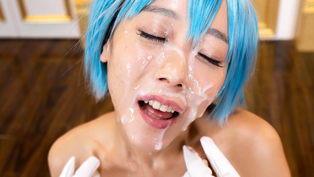 Nanako Nanahara Cosplay Bukkake porn. A Japanese Harajuku girl sucks many cocks and gets her face covered in cum at Cospuri, uncensored Facial Fetish.